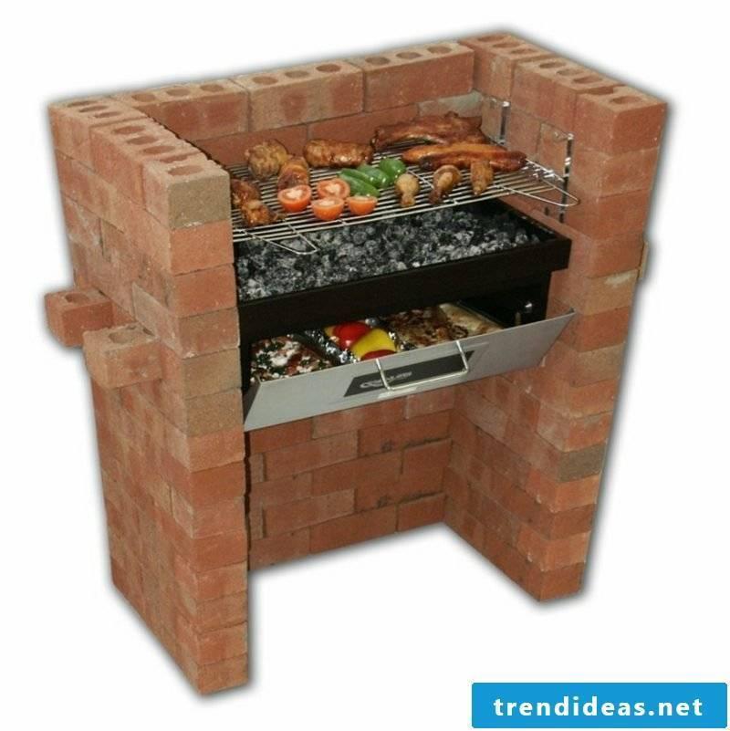 Stone barbecue yourself build garden DIY ideas