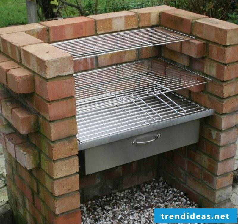 Stone barbecue yourself build garden fireclay