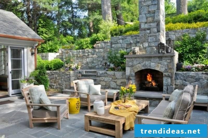 Stone fireplace wonderful look