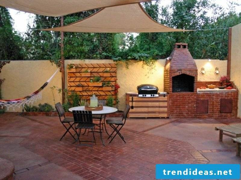 Barbecue fireplace firebricks terrace
