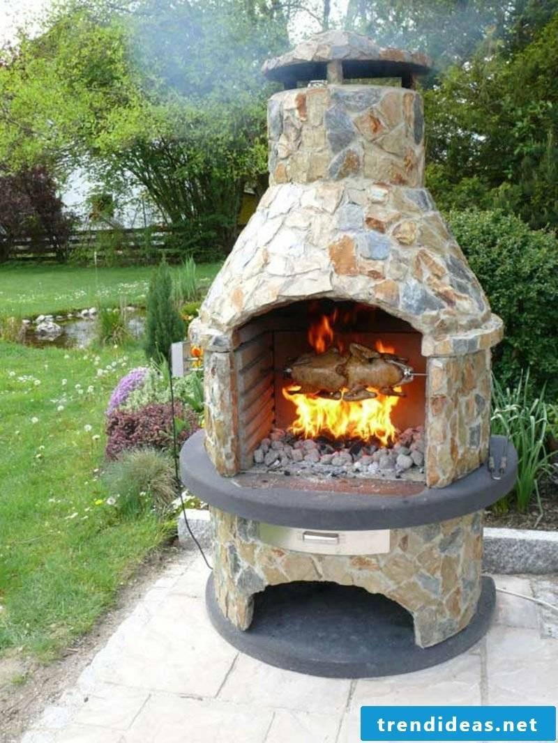 Outdoor fireplace stone original design