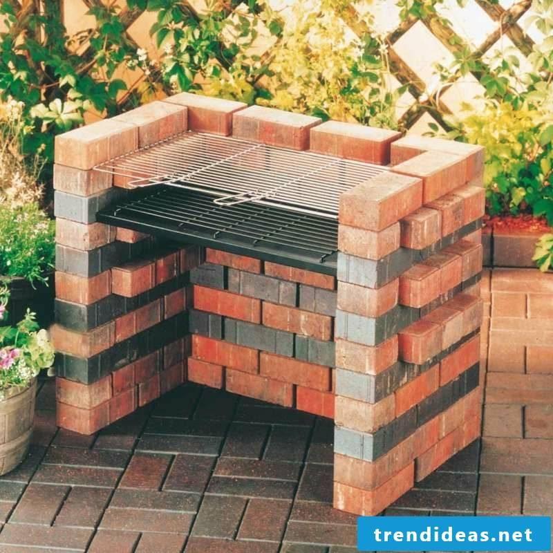 Barbecue colored bricks original look