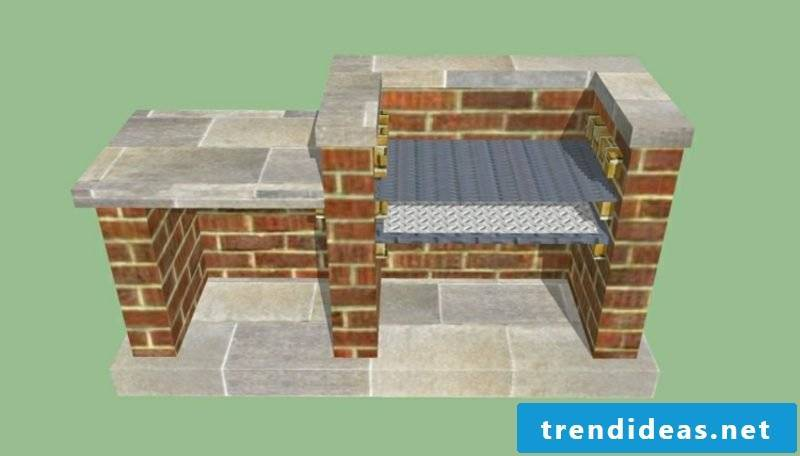 Stone barbecue itself build scheme