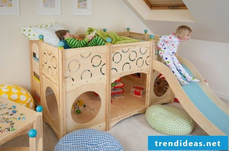 Play bed with slide growing children's room