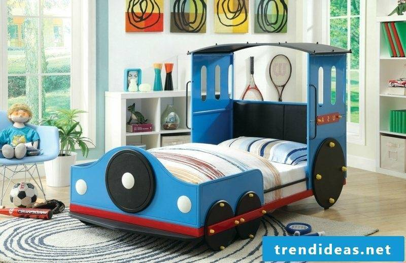 growing child bed train boy room