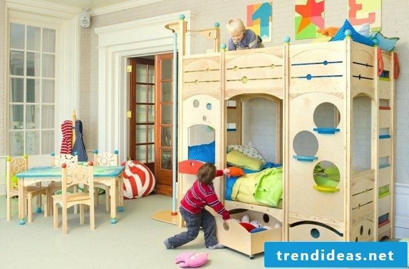 growing baby bed children's room solid wood
