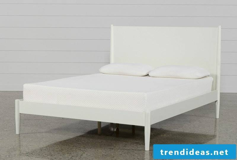 King size bed white puristic design