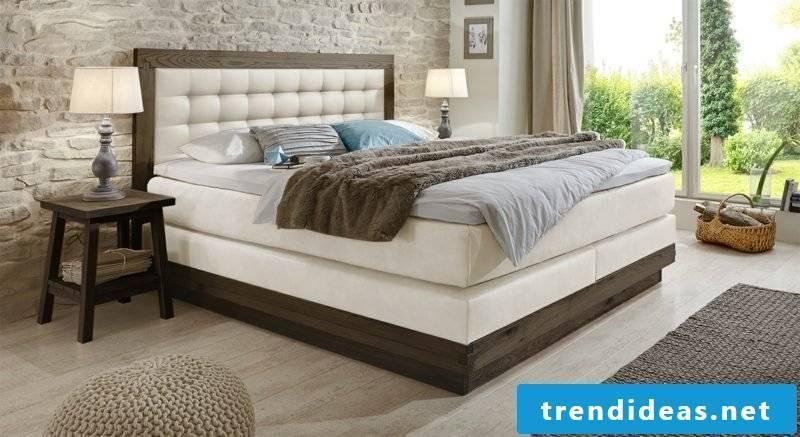 Queen bed solid modern design