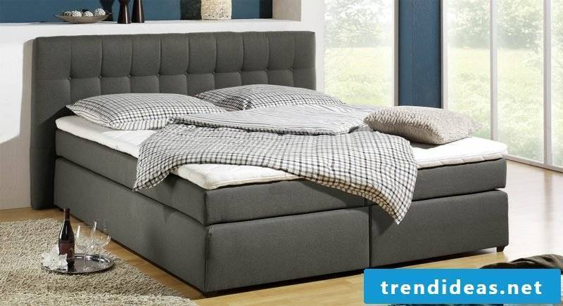 Queen size bed mattress sizes gray upholstery