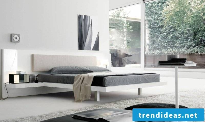 Queen bed size modern bedroom Scandinavian