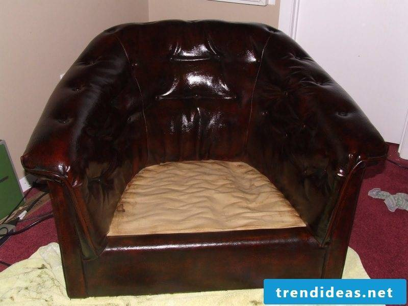 Leather Dyeing - At your option you can use leather shine care