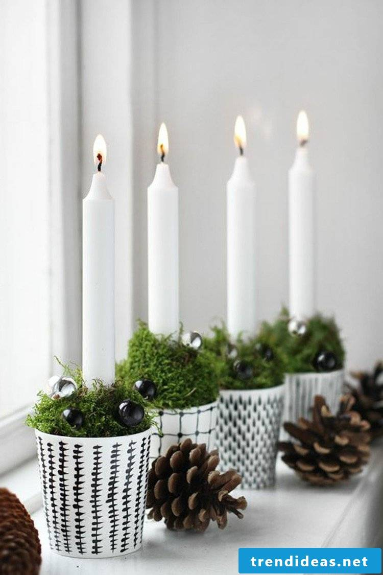 Advent wreath order minimalist