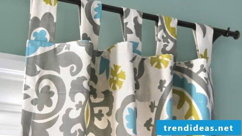 Curtain sew type