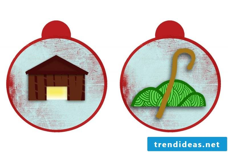 Christmas motives for printing template day 21 and 22