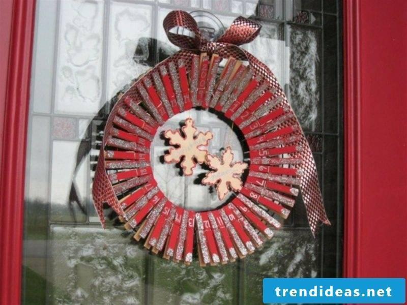 Advent calendar as a door wreath Creative craft ideas Christmas