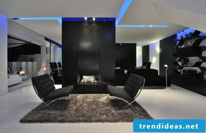 indirect LED lighting blue
