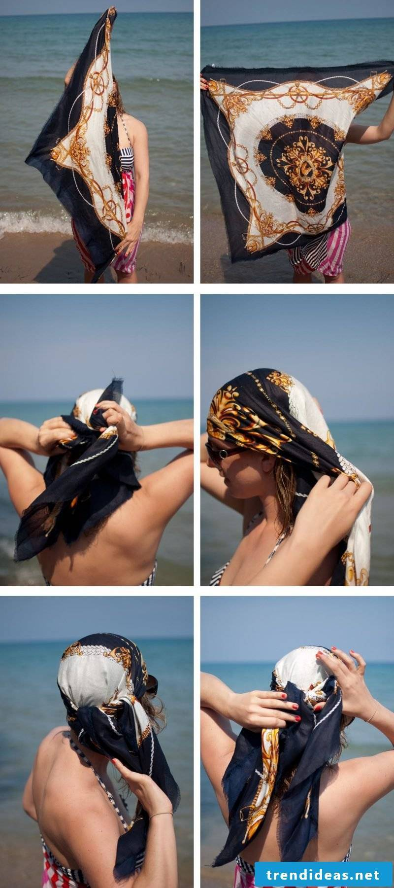 Headscarf tie summer outfit