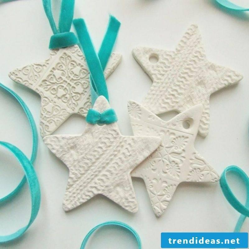 Star polymer clay decoration