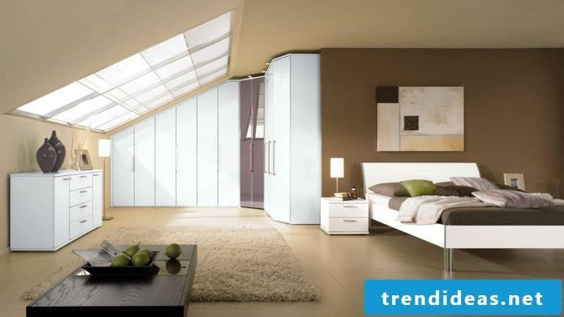closet sloping cozy bedroom