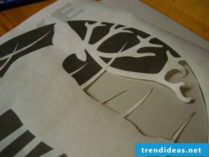 T-shirts self-print the template