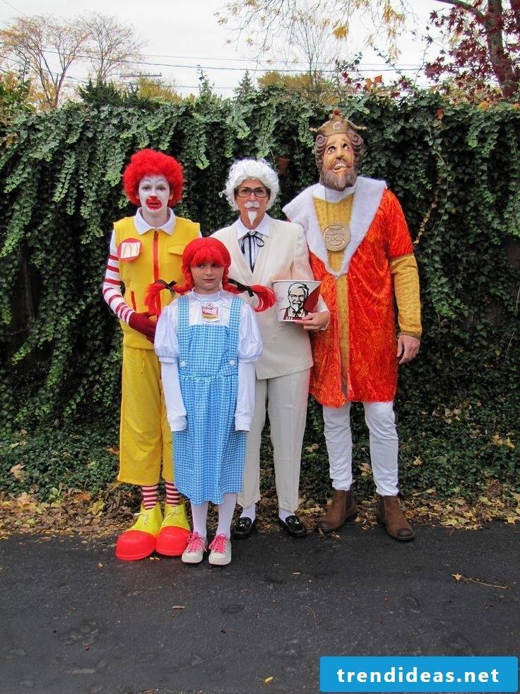 carnival group costumes mr mc donalds