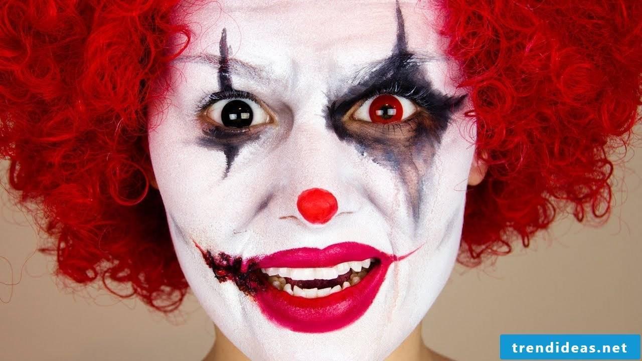 Clown make-up carnival