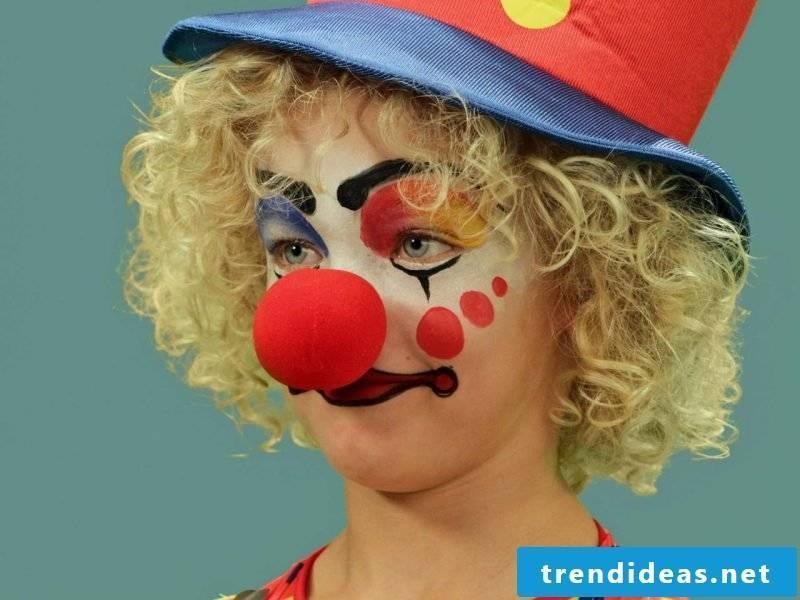 Clown face paint
