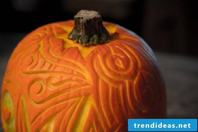 Halloween pumpkin carving ornate ideas