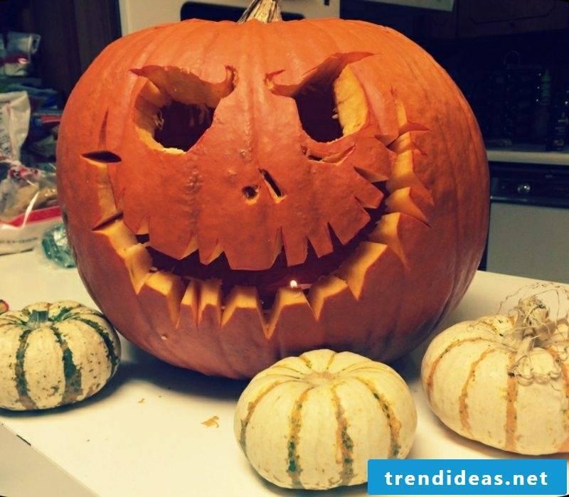 Pumpkin face scary Halloween