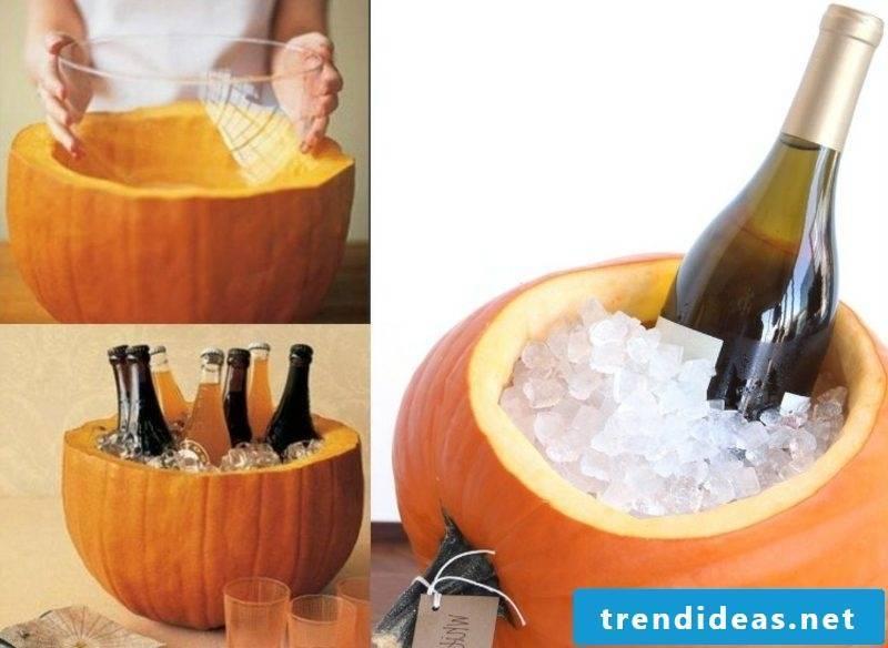 Pumpkins carve champagne coolers