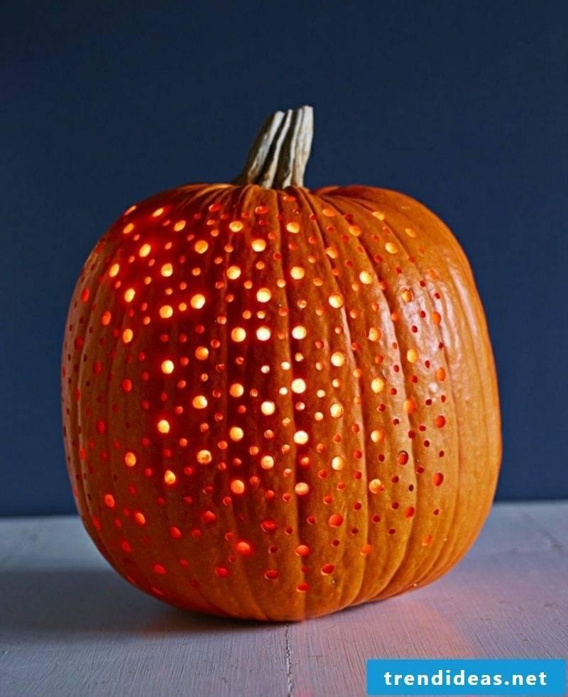 Halloween pumpkin carving a great candle lantern