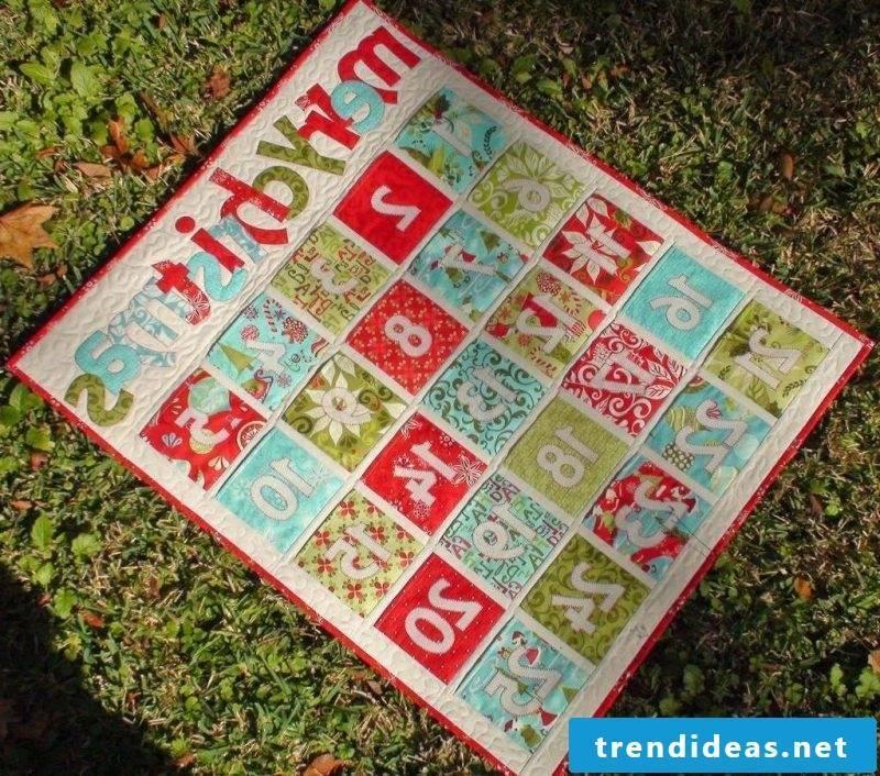 Advent calendars sew as patchwork
