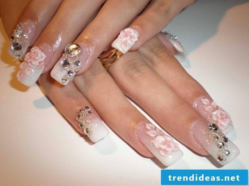 Nail art sexy emboss