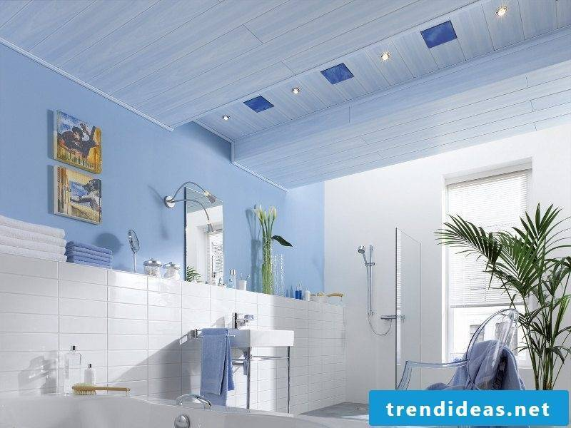 ceiling cover blue