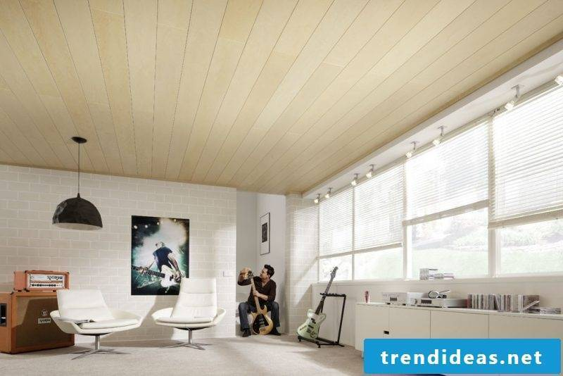 ceiling paneling bright