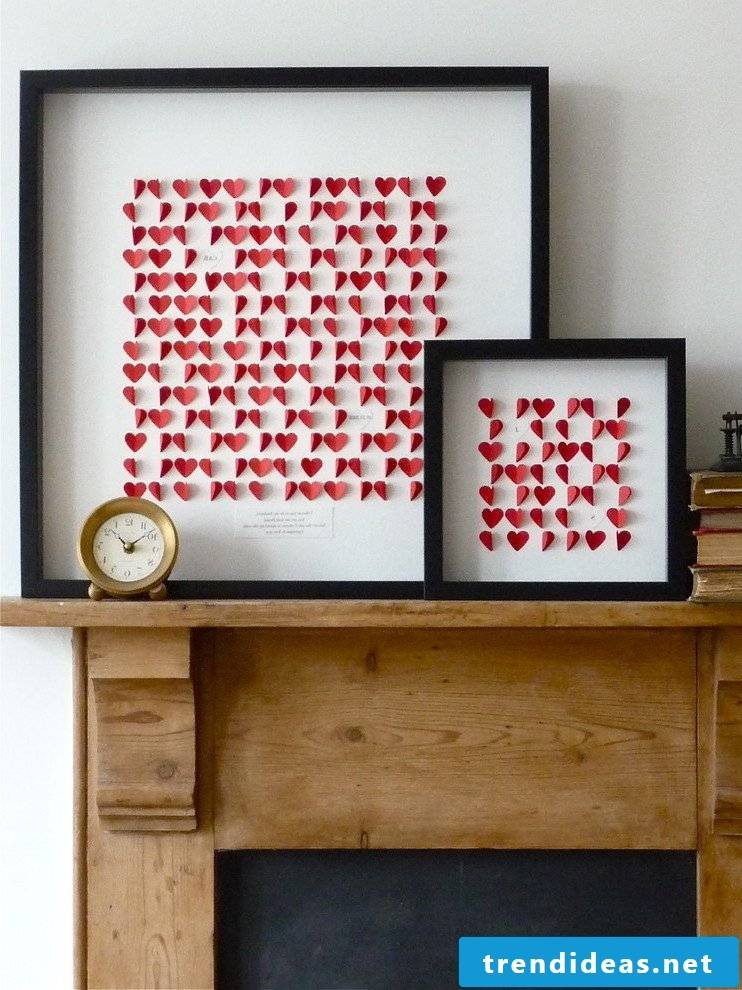 Matching wall design for Valentine's Day!
