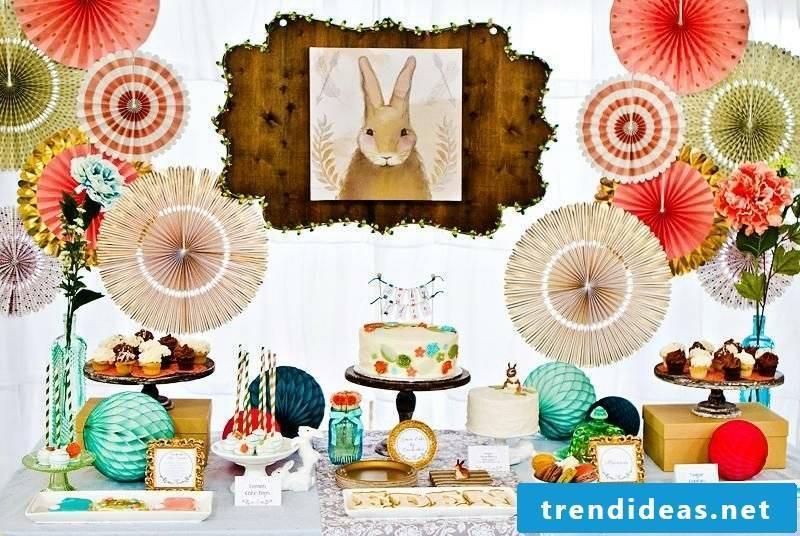 Creative Decoration Ideas Kids Birthday Bunny Pom Poms