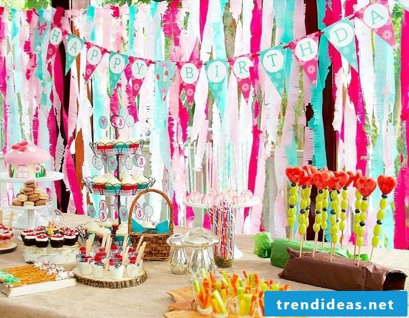 Children's birthday decoration make colorful gorgeous look