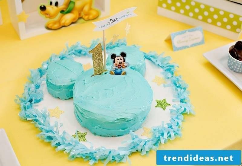 Kids birthday decoration ideas cake Mickey Mouse