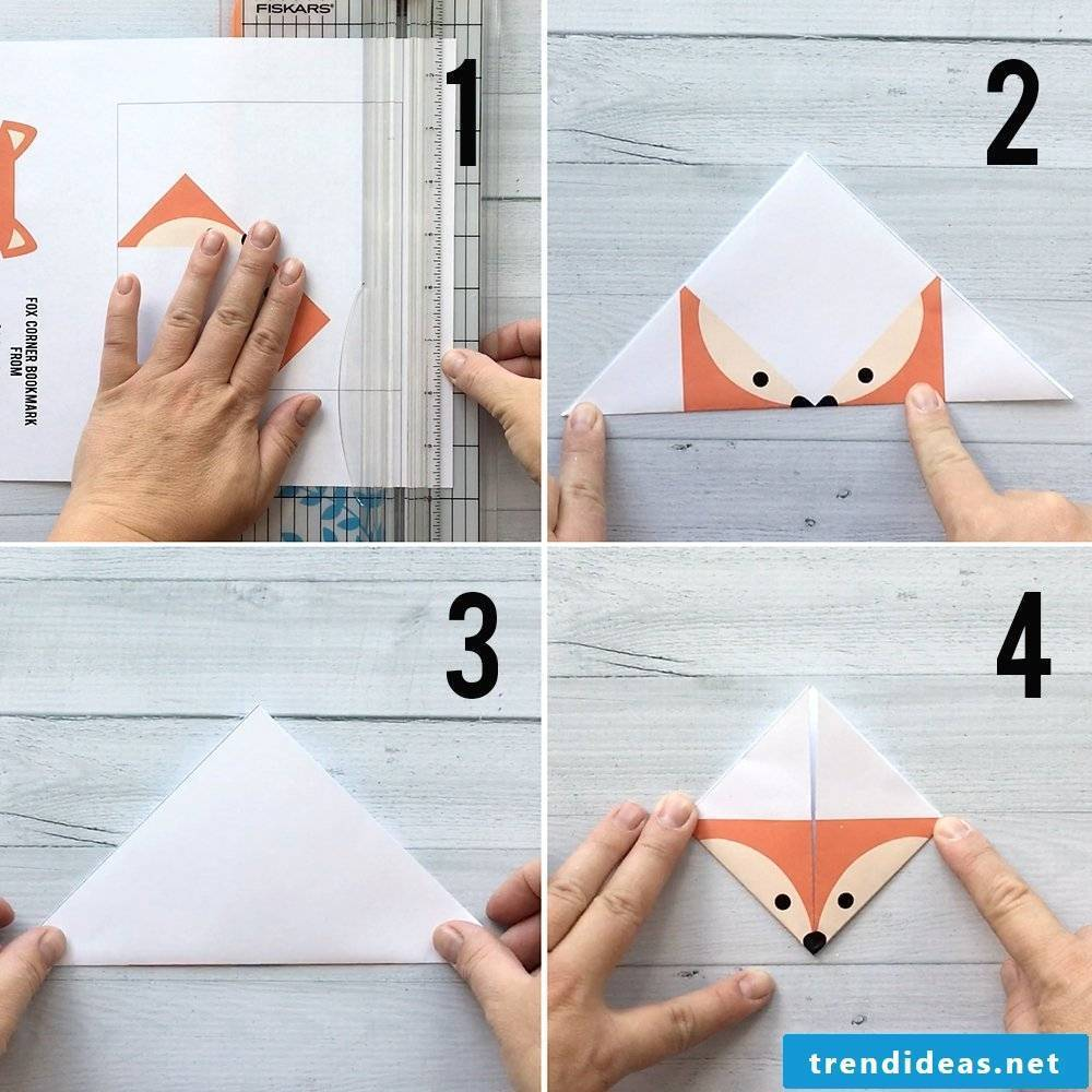 Craft Ideas Christmas - make bookmarks yourself