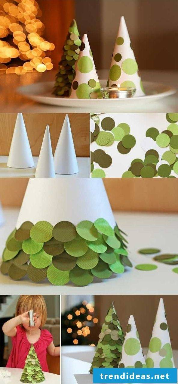 Christmas crafts with children made of paper - instructions