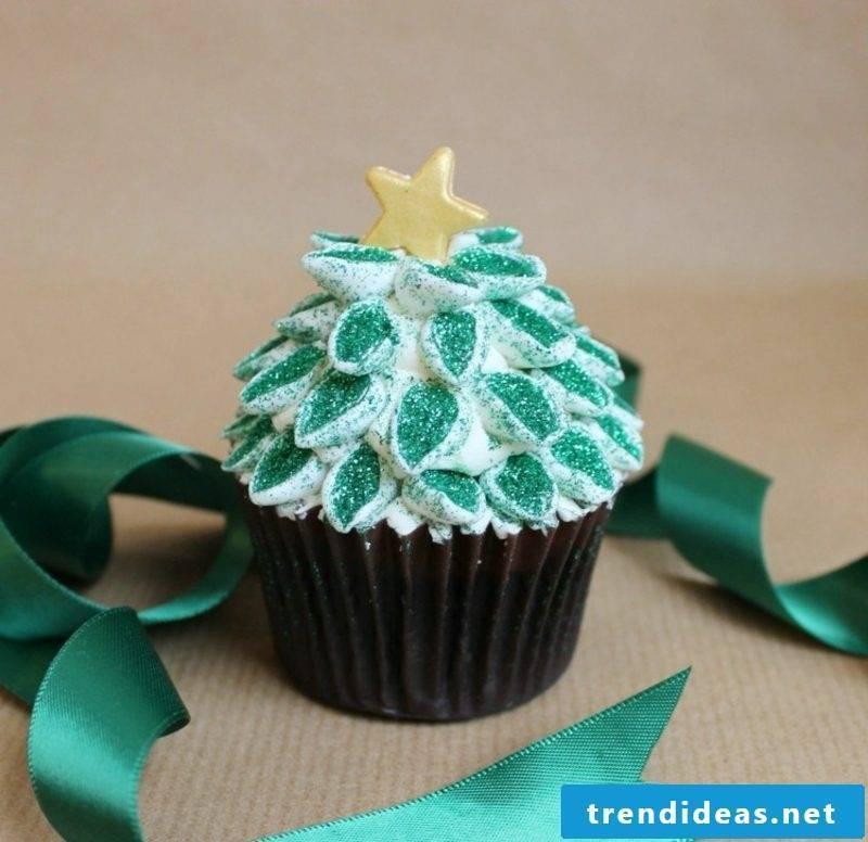 cool christmas cupcakes christmas color glitter christmas tree