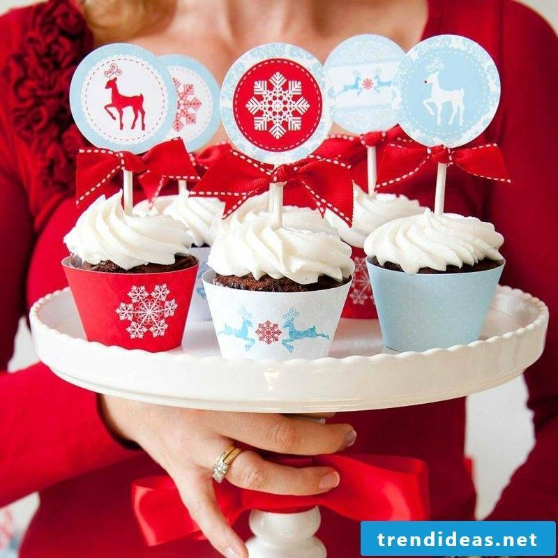 cool christmas cupcakes christmas ideas decorative labels cupcakes