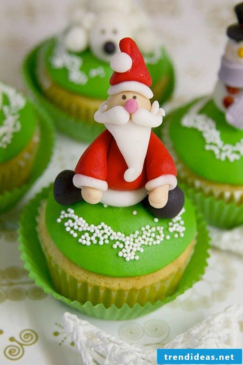 cool christmas green cupcakes
