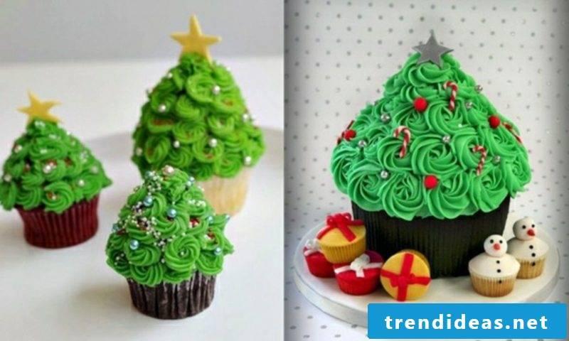 Cool Christmas Christmas Cupcakes with Christmas Tree Cupcakes