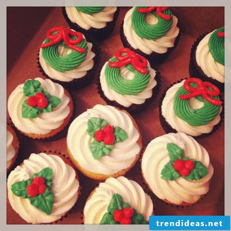 Christmas christmas cupcakes