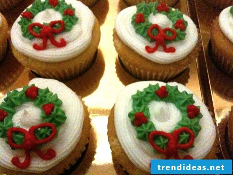 Christmas large cupcakes