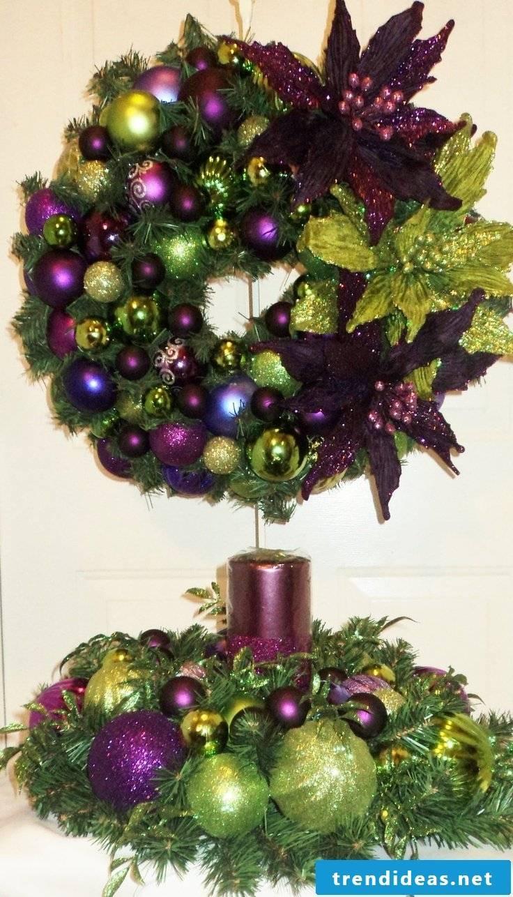 Door wreath and table wreath color coordinated