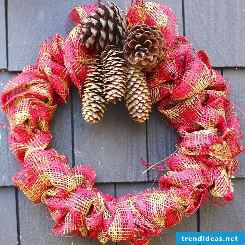 Net grind wreath for christmas