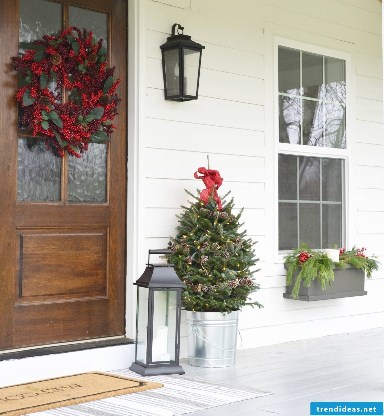 Beautiful Christmas house decoration for a good festive mood